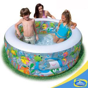 金魚充氣泳池.運動.水池.游泳池.充氣游泳池.充氣泳池.充氣水池C142-58480