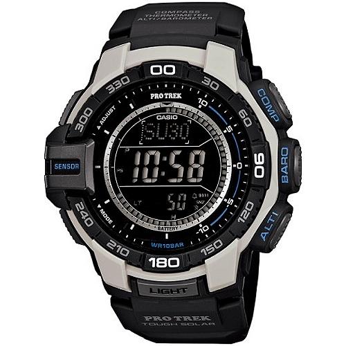 CASIO PRO TREK 登山錶 PRG-270-7DR數位專業登山腕錶/黑白52.4mm