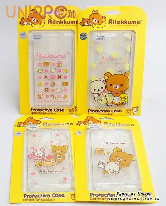 【UNIPRO】SAMSUNG GALAXY Note 4 拉拉熊 Rilakkuma 懶懶熊 TPU 手機殼 保護套