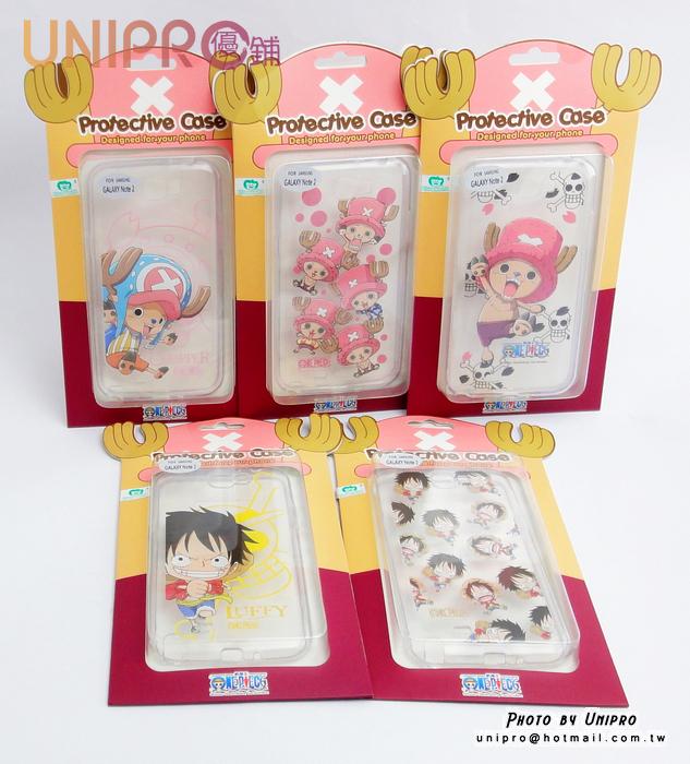【UNIPRO】三星 Note2 N7100 航海王 海賊王 One Piece 手機殼 透明 軟殼 TPU 保護套