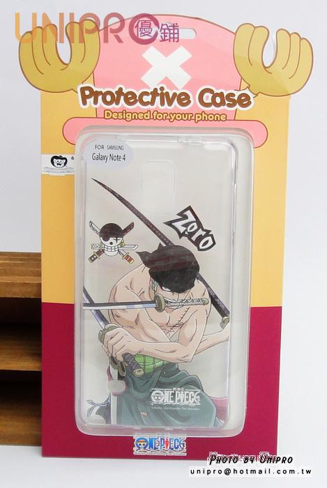 【UNIPRO】三星 Note4 航海王 海賊王 One Piece 索隆 手機殼 透明 軟殼 TPU 保護套