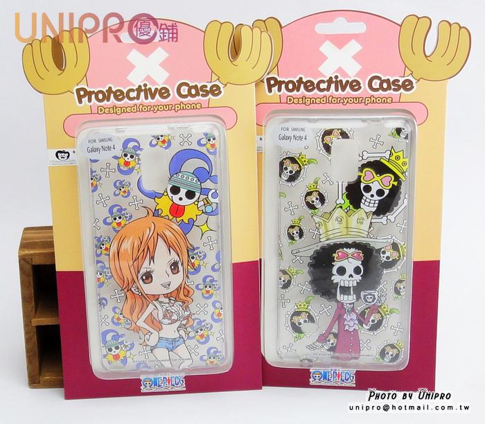 【UNIPRO】三星 Note4 航海王 海賊王 娜美 布魯克 One Piece 手機殼 透明 軟殼 TPU 保護套