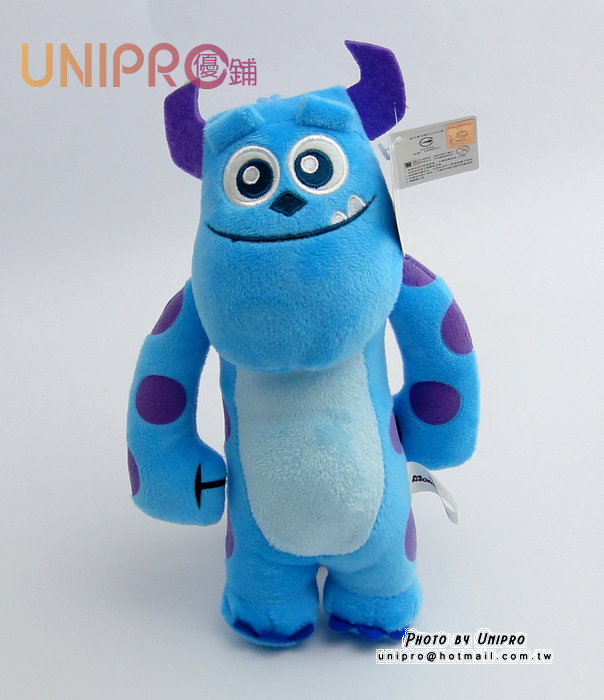 【UNIPRO】迪士尼 毛怪 7吋 絨毛玩偶 造型長抱枕 娃娃 布偶 怪獸大學 吊飾