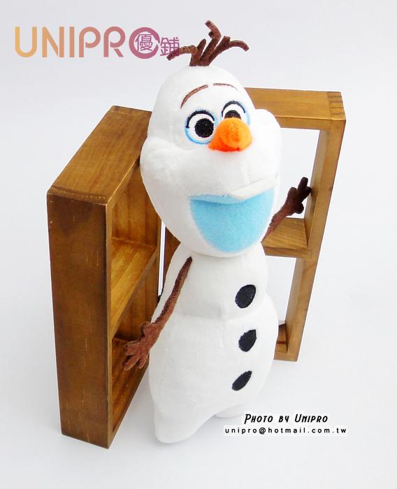 【UNIPRO】迪士尼 雪寶 7吋 絨毛玩偶 造型長抱枕 娃娃 布偶 冰雪奇緣 吊飾