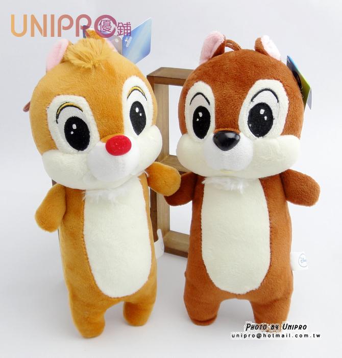 【UNIPRO】迪士尼 奇奇蒂蒂 7吋 絨毛玩偶 造型長抱枕 娃娃 布偶 救難小英雄 吊飾
