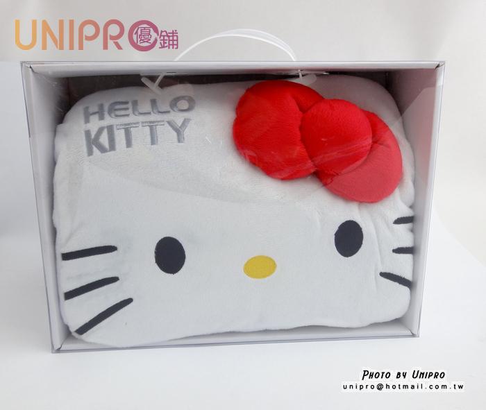 【UNIPRO】三麗鷗 HELLO KITTY 凱蒂貓 電子式 暖手抱枕 暖手寶 暖蛋 電子式暖墊 暖手抱枕