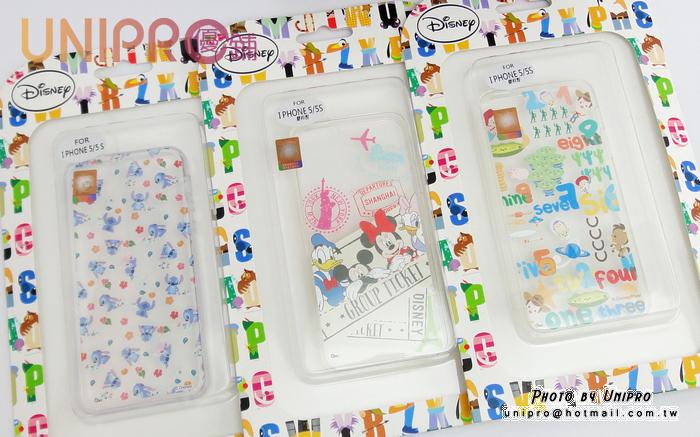 【UNIPRO】iPhone 5 5S 迪士尼卡通 史迪奇 米奇 米妮 胡迪 透明 TPU 手機殼 保護套
