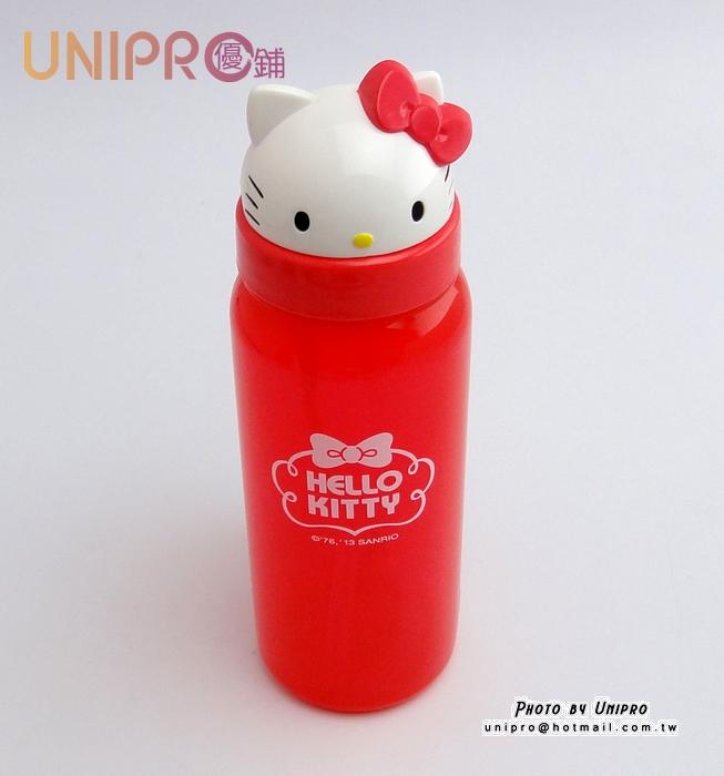 【UNIPRO】HELLO KITTY 凱蒂貓 造型立體頭型 水壺 冷水壺 500ML 水瓶 三麗鷗正版授權