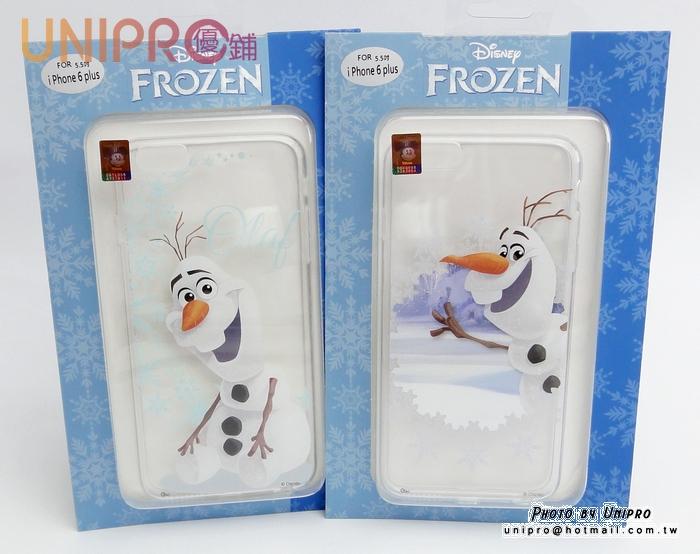 【UNIPRO】iPhone 6 Plus 5.5吋 冰雪奇緣 FROZEN TPU手機殼 雪寶 i6+ 保護套