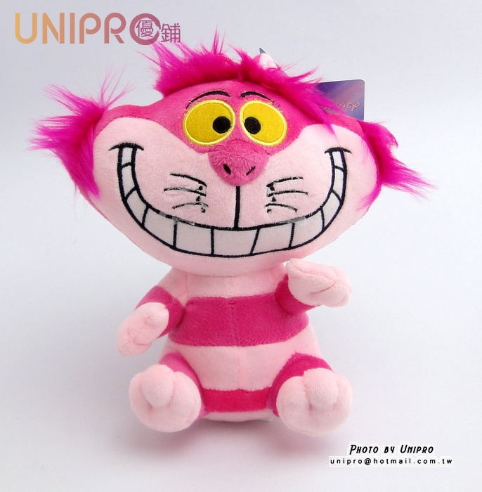 【UNIPRO】 迪士尼 愛麗絲夢遊仙境 紫郡貓 Cheshire Cat 娃娃 玩偶 正品 6吋吊坐姿 妙妙貓