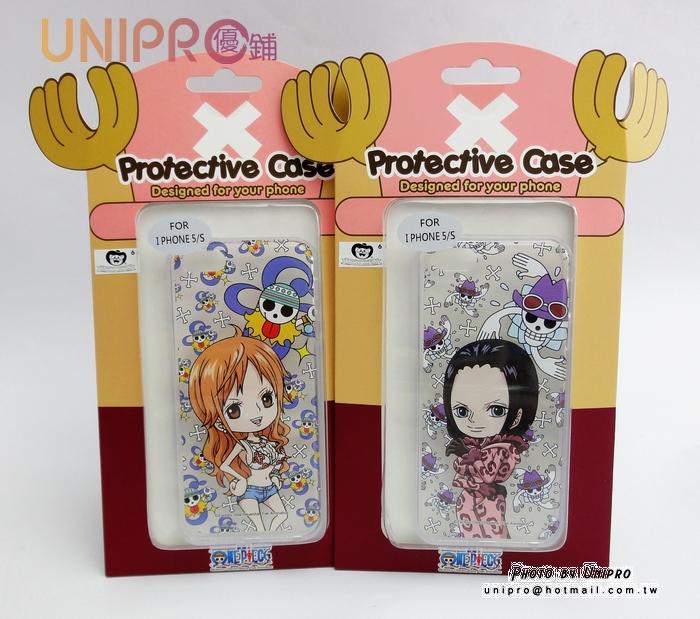 【UNIPRO】iPhone 5/5s 海賊王 羅賓 娜美 One Piece 手機殼 透明軟殼TPU保護套