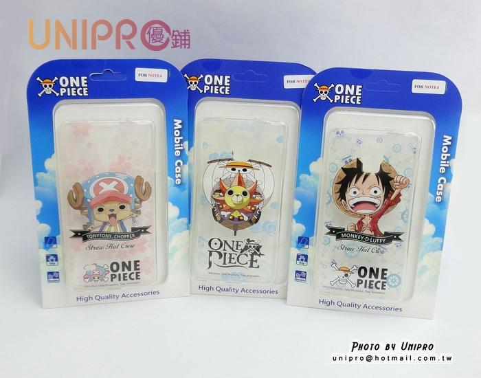 【UNIPRO】三星 Note4 航海王 海賊王 One Piece 手機殼 透明 軟殼 TPU 保護套
