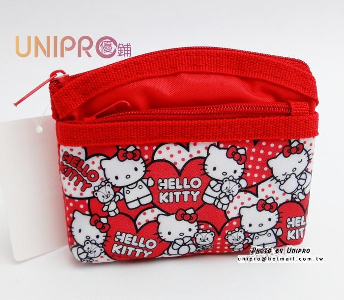 UNIPRO 三麗鷗授權 Hello Kitty 40th 紀念版 雙層零錢包 小包 隨身包