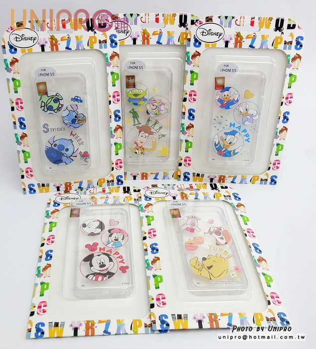 【UNIPRO】iPhone 5 5S 迪士尼卡通 米奇 史迪奇 玩具總動員 唐老鴨 維尼 透明 TPU 手機殼 保護套