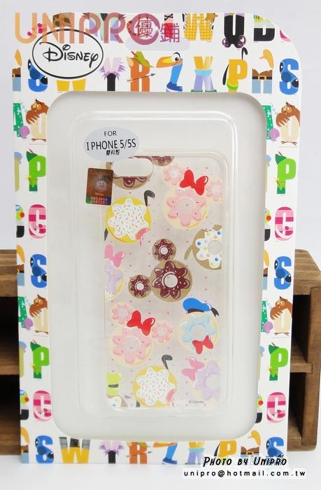 【UNIPRO】iPhone 5 5S 迪士尼卡通 甜點 甜甜圈 唐老鴨 米奇 透明 TPU 手機殼 保護套