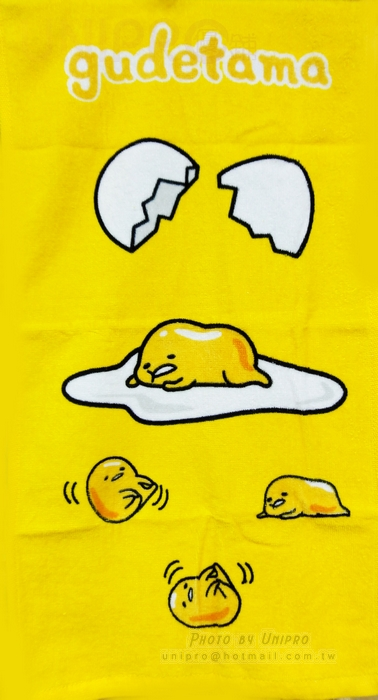 【UNIPRO】三麗鷗 療癒系 慵懶蛋黃哥 Gudetama 童巾 毛巾 小毛巾 正版授權