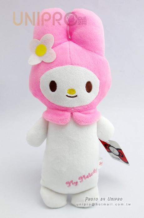 【UNIPRO】迪士尼 三麗鷗 sanrio 美樂蒂 Melody 10吋 絨毛玩偶 長抱枕造型 娃娃 布偶 吊飾