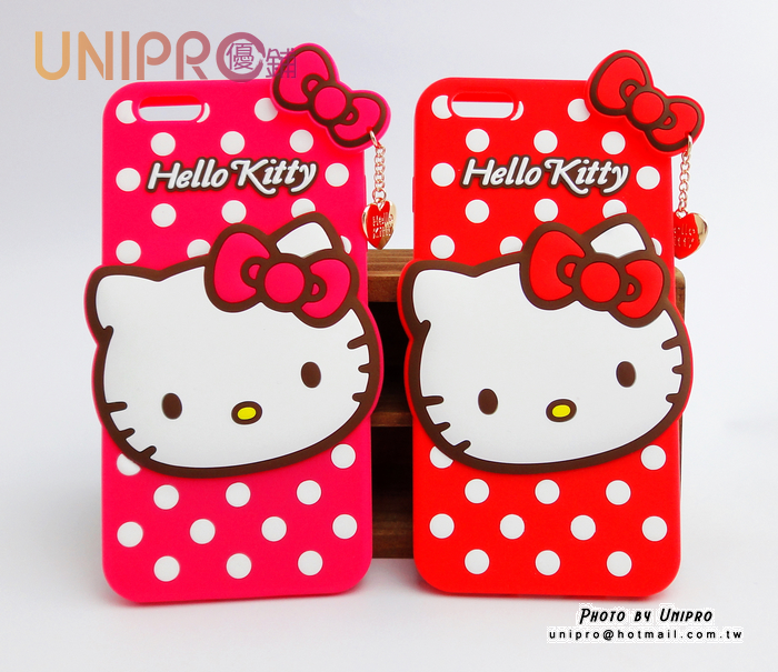 【UNIPRO】Apple iPhone 6 Plus 5.5 Hello Kitty 凱蒂貓 矽膠軟殼 手機殼 保護套