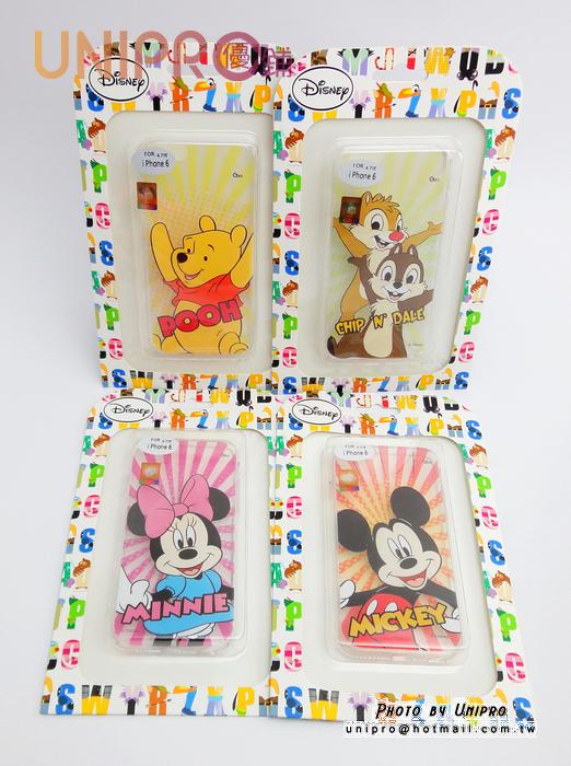 【UNIPRO】iPhone 6 4.7吋 迪士尼卡通 米奇 米妮 小熊維尼 奇奇蒂蒂 透明 TPU 手機殼 保護套