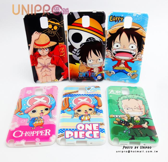 【UNIPRO】Samsung Note3 N9000 航海王 One Piece 手機殼 TPU 保護套 手機殼  海賊王 魯夫 索隆 喬巴