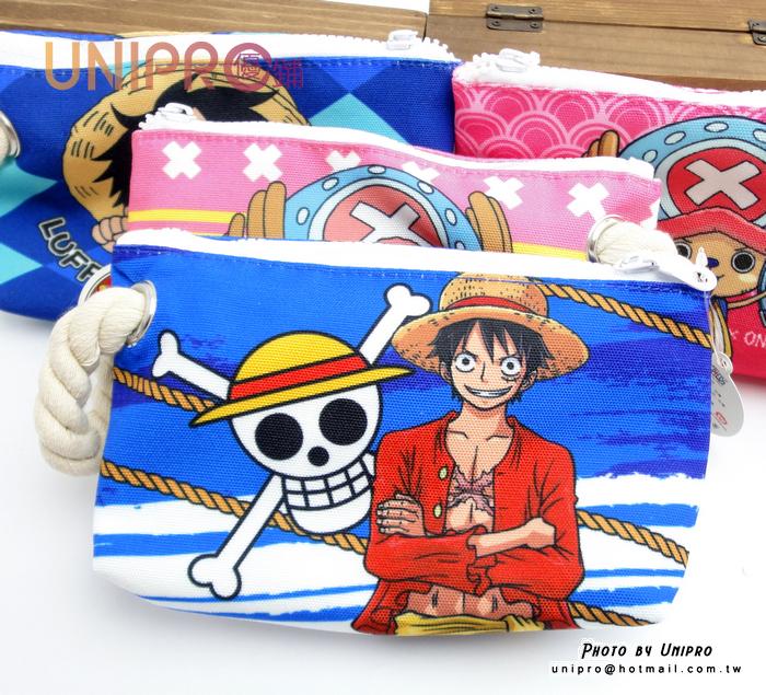 UNIPRO 航海王 海賊王 One Piece 魯夫 喬巴 海賊旗 布料 帆布化妝包 收納包 筆袋