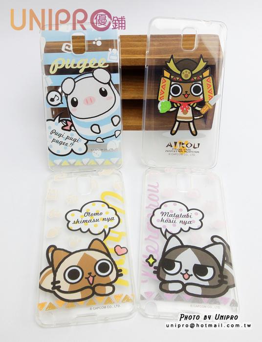 【UNIPRO】Samsung Note3 N9000 艾路貓 梅拉路 AIROU 貓咪 透明 軟殼 手機殼
