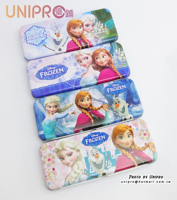 【UNIPRO】迪士尼 冰雪奇緣 FROZEN ELSA ANNA 雪寶 雙層鐵製 鉛筆盒 置物盒 開學用品 正版