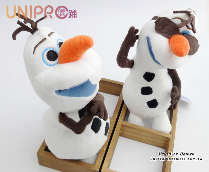 【UNIPRO】迪士尼 正版授權 冰雪奇緣 雪寶 祈禱 墨鏡 絨毛玩偶 娃娃 FROZEN