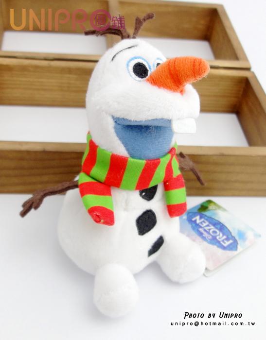 【UNIPRO】聖誕吊飾 冰雪奇緣 FROZEN 雪寶 絨毛玩偶 娃娃 吊飾 11公分 迪士尼 耶誕 聖誕 正版授權