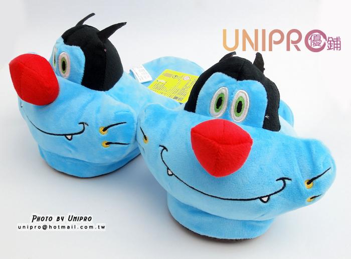 【UNIPRO】卡通 肥貓鬥小強 肥貓 阿肥 絨毛娃娃 保暖 室內拖鞋 毛拖 造型玩偶 保暖拖鞋