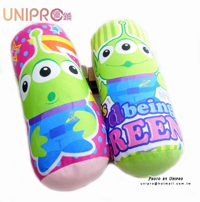 【UNIPRO】正版授權 迪士尼 玩具總動員 三眼怪 圓筒枕 圓筒抱枕 抱枕 靠枕 圓枕