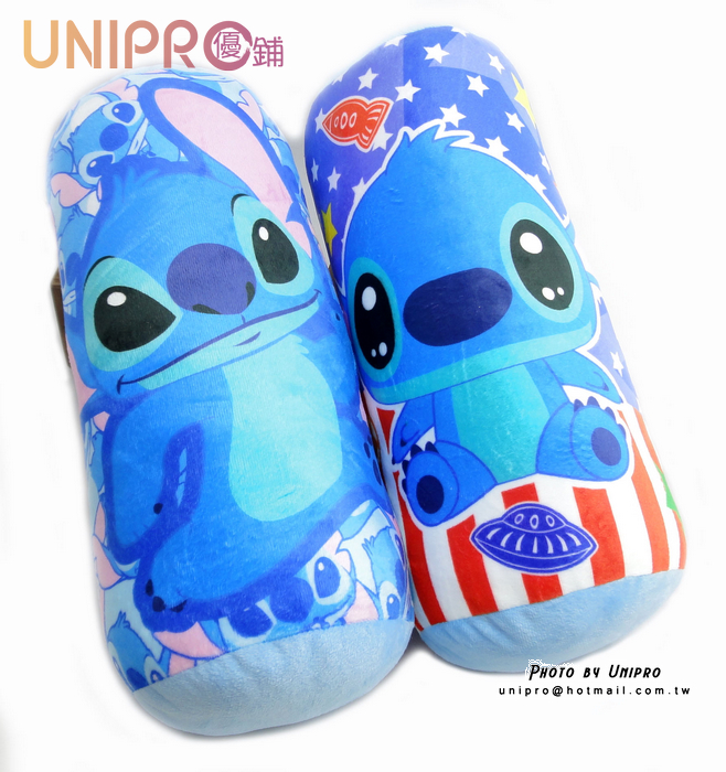 【UNIPRO】正版授權 迪士尼 星際寶貝 史迪奇 圓筒枕 圓筒抱枕 抱枕 靠枕 圓枕