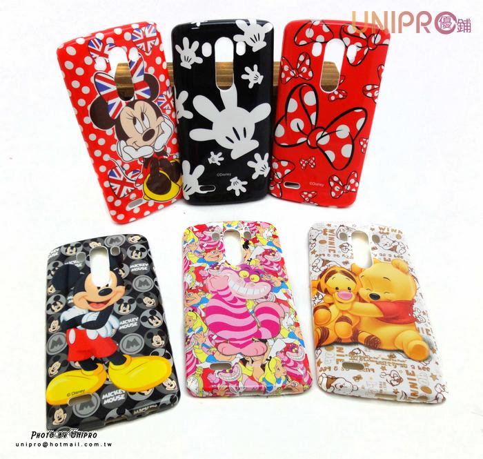 【UNIPRO】迪士尼 LG G3 D855 小熊維尼 米奇 米妮 妙妙貓 TPU 手機殼 保護套