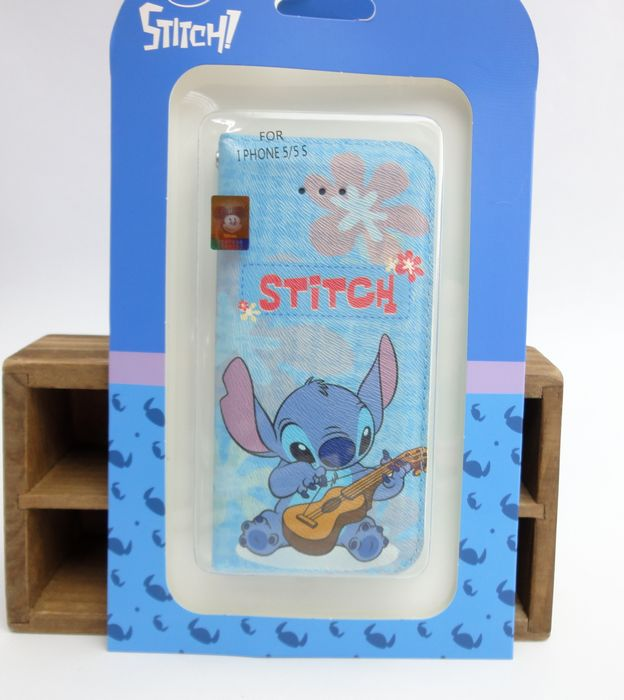 【UNIPRO】iPhone 5 5S 迪士尼 阿囉哈彈琴史迪奇 手機保護套 皮套 STITCH i5