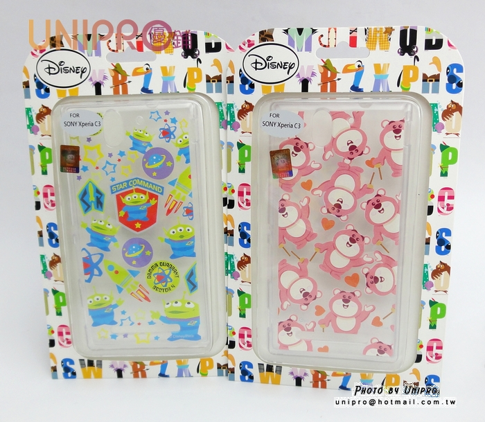 【UNIPRO】SONY Xperia C3 D2533 玩具總動員 三眼怪 熊抱哥 TPU 透明 手機殼 迪士尼