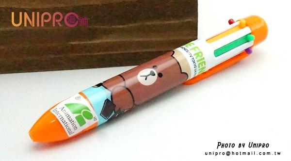 【UNIPRO】LINE FRIENDS 迷你6色原子筆 熊大 胖胖 自動原子筆 (湊金額)