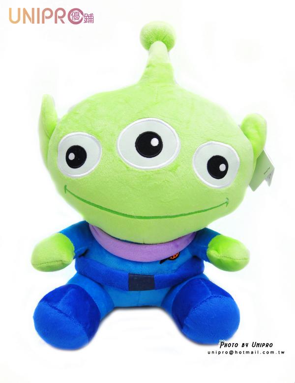 【UNIPRO】玩具總動員 坐姿 三眼怪 絨毛 玩偶 娃娃 Toy Stoys Aliens 30公分