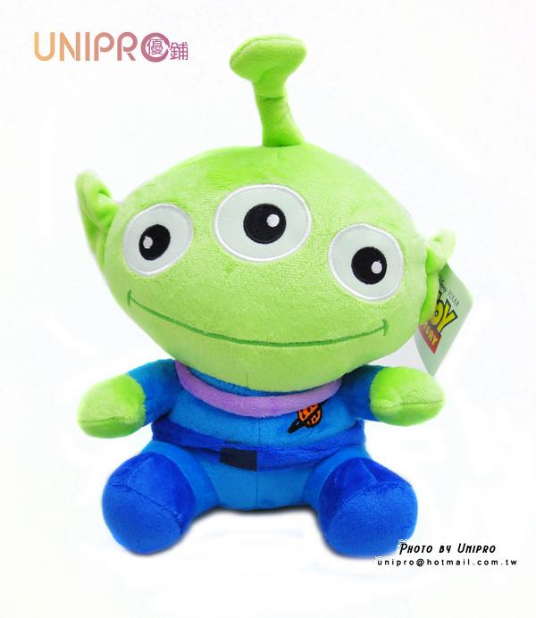 【UNIPRO】玩具總動員 坐姿 三眼怪 絨毛 玩偶 娃娃 Toy Stoys Aliens 37公分