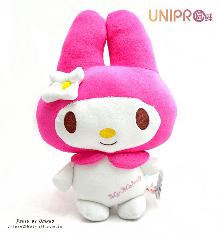 【UNIPRO】三麗鷗 美樂蒂 Melody 絨毛玩偶 扁型抱枕 12吋 禮物