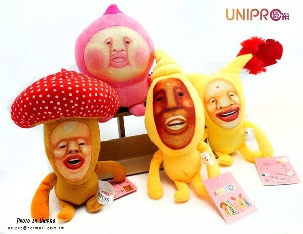 【UNIPRO】農場精靈 KOBITOS 醜比頭 粉屁桃 紅蘑菇 赤羽佛 黃金寶 10cm 絨毛玩偶 娃娃 吊飾