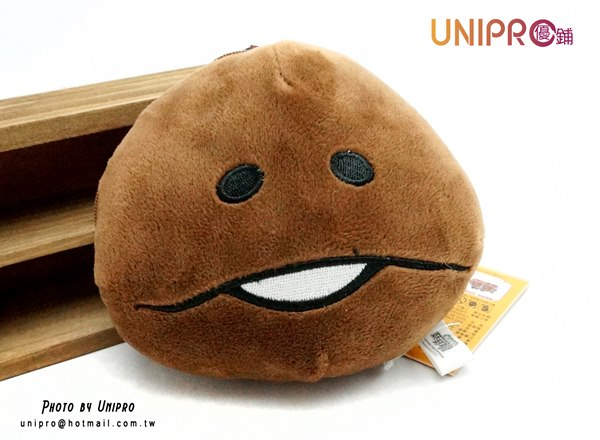 【UNIPRO】方吉 頭型 絨毛 吊環 零錢包 萬用包 菇菇栽培研究室 打香菇 mushroom