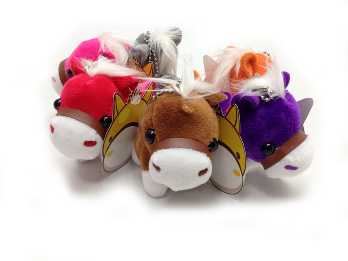 UNIPRO 六色馬 鑰匙圈 吊飾 3吋玩偶 娃娃 可愛的馬