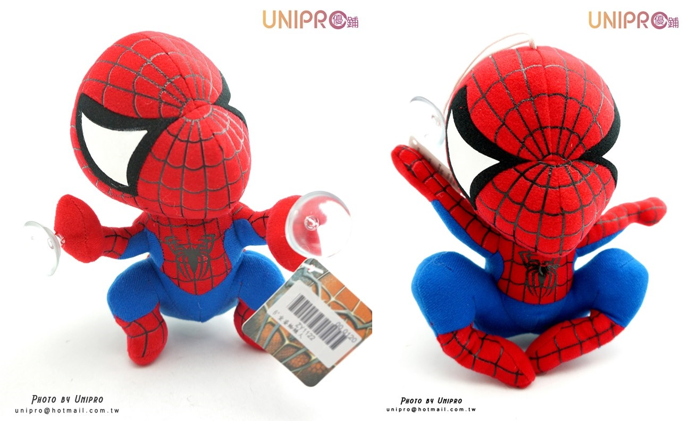 【UNIPRO】英雄 蜘蛛人 spiderman 坐姿 爬姿 飛姿 6吋 吸盤 絨毛玩偶 娃娃