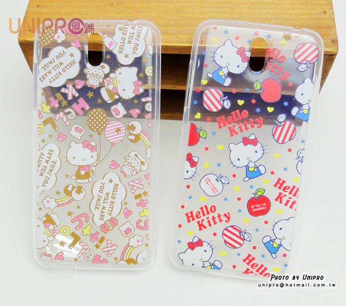 【UNIPRO】HTC Desire 610 Hello Kitty 凱蒂貓 滿版 透明 TPU 手機殼 保護套 正版