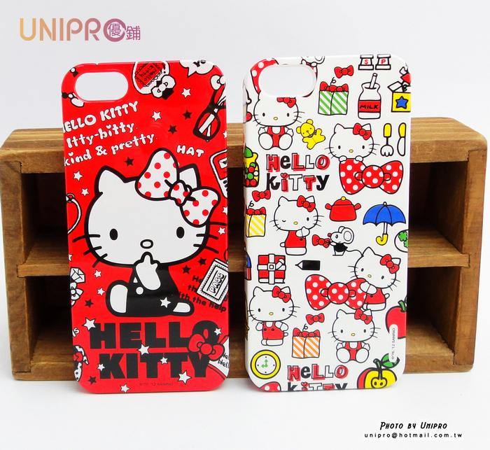【UNIPRO】iPhone 5 / 5S Hello Kitty 凱蒂貓 硬殼 PC 手機殼 保護套 正版 i5 KT