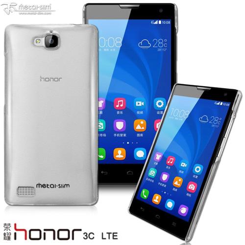 【UNIPRO】Metal-Slim HUAWEI honor 榮耀3C LTE 高抗刮PC透明系列保護殼 奈米防刮塗層手機殼 送保護貼 [HW01]