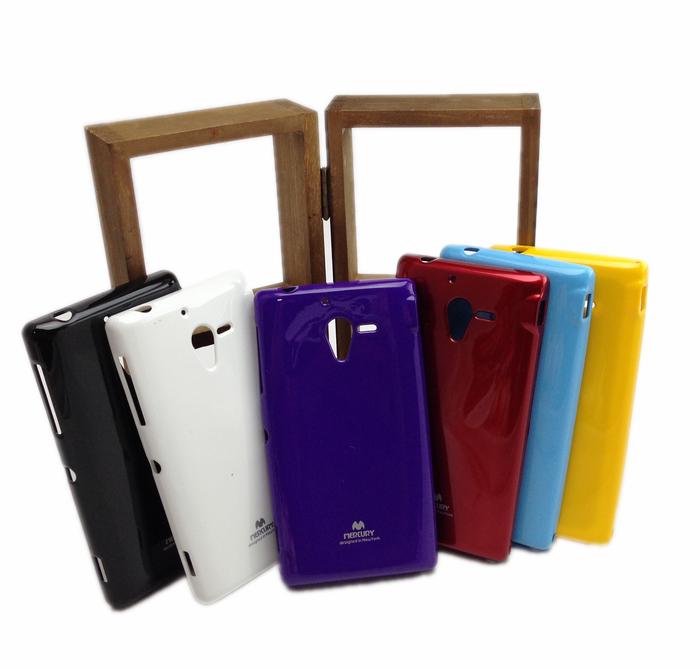 UNIPRO SONY Xperia ZL L35h 糖果色 TPU 亮粉 軟矽膠手機保護套 手機殼