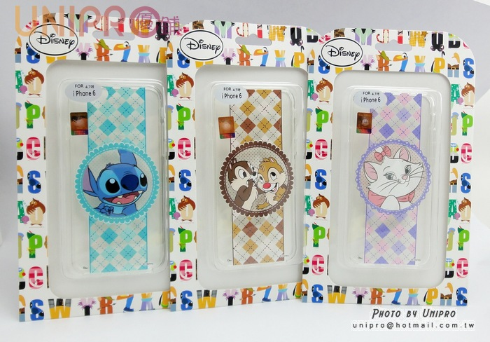 【UNIPRO】迪士尼 iPhone 6 4.7吋 瑪麗貓 奇奇蒂蒂 史迪奇 浪漫風 緞帶TPU透明手機殼 保護套 i6