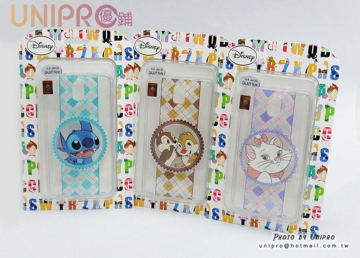 【UNIPRO】迪士尼 三星 NOTE3 N900 瑪麗貓 奇奇蒂蒂 史迪奇 浪漫風 緞帶TPU透明手機殼 保護套 n3