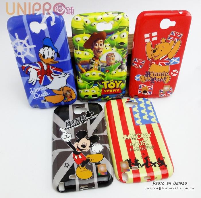 【UNIPRO】三星 Note2 N7100 迪士尼 米奇 維尼 胡迪 TPU軟殼 手機殼 保護殼 N2